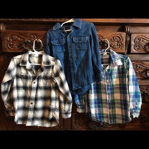 5T Gap long sleeve & flannel lot